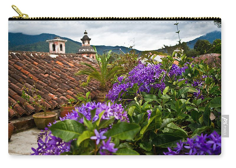 Panza Verde Carry-all Pouch featuring the photograph Panza Verde Hotel Rooftop 1 by Douglas Barnett