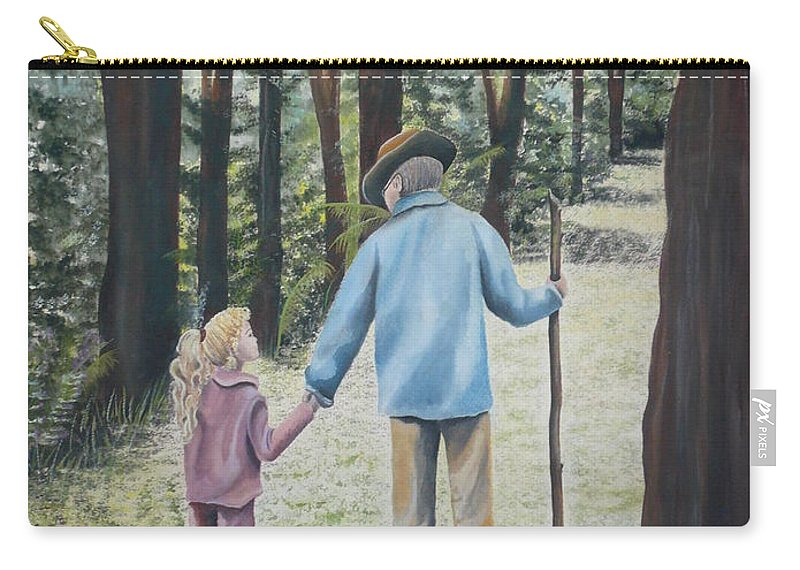Grandfather Carry-all Pouch featuring the painting Papa by Kris Crollard