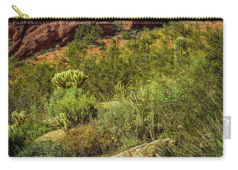 Papago Mountain Carry-all Pouch featuring the photograph Papago Mountain by Jon Burch Photography