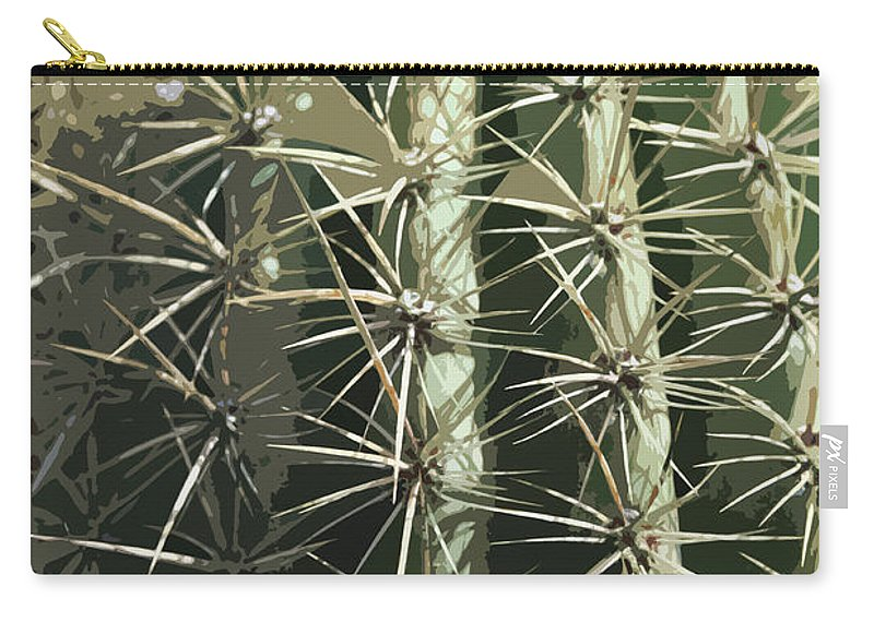 Cactus Carry-all Pouch featuring the digital art Paper Cactus by Christiane Schulze Art And Photography
