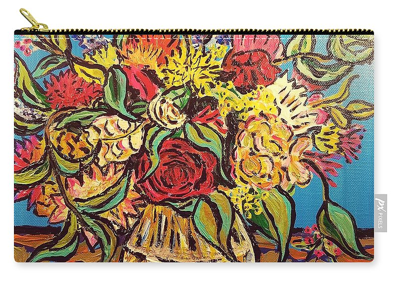 Still Life Carry-all Pouch featuring the painting Paper Still Life by Timothy Michael Foley