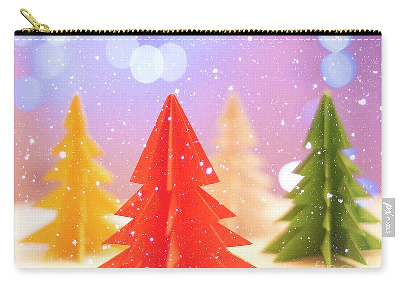 Symbol Carry-all Pouch featuring the photograph Paper Trees by Juli Scalzi