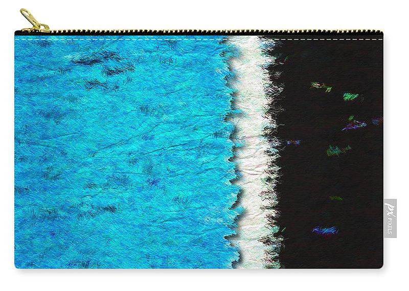 Blue Carry-all Pouch featuring the photograph Papier A La Main by Paul Wear