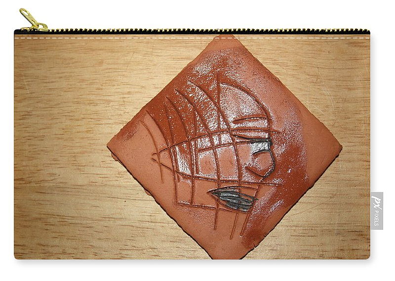 Jesus Carry-all Pouch featuring the ceramic art Papyrus - Tile by Gloria Ssali