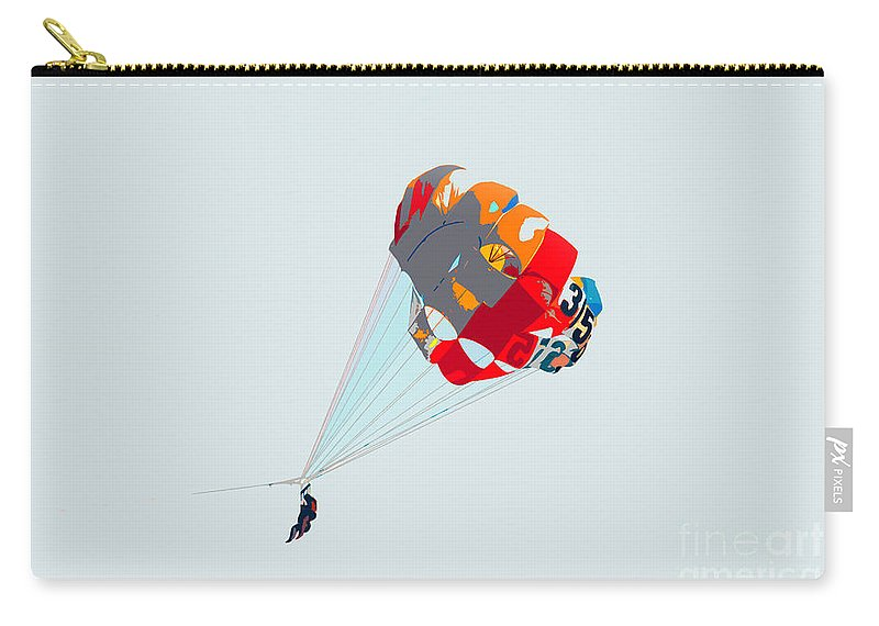 Para Sailing Carry-all Pouch featuring the photograph Para Sailing by David Lee Thompson