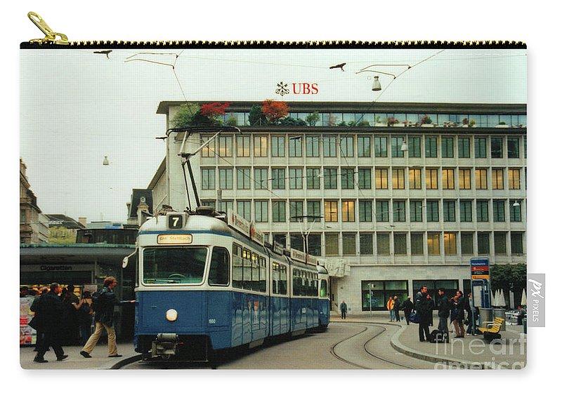 Zurich Carry-all Pouch featuring the photograph Paradeplatz Zurich by Susanne Van Hulst