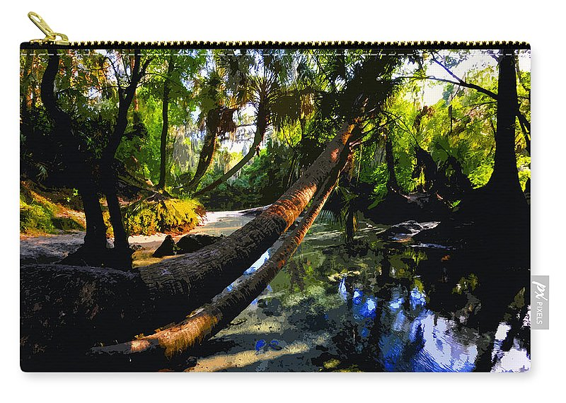 Paradise Carry-all Pouch featuring the painting Paradise Found by David Lee Thompson