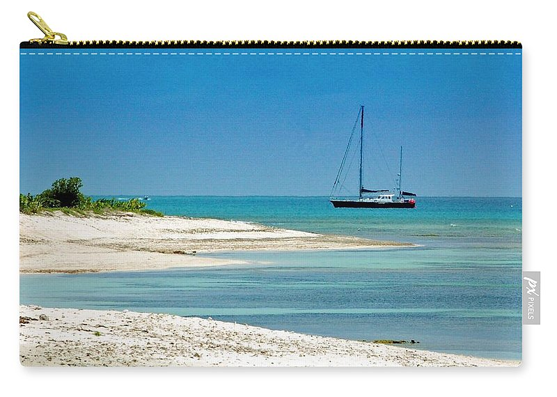 Boat Carry-all Pouch featuring the photograph Paradise Found by Debbi Granruth
