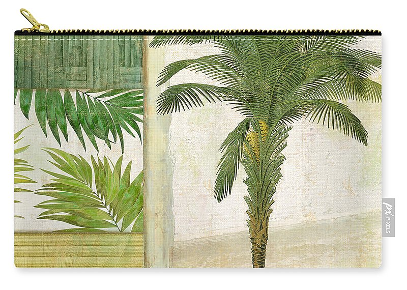 Palm Tree Carry-all Pouch featuring the painting Paradise I by Mindy Sommers
