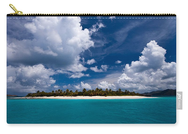 3scape Carry-all Pouch featuring the photograph Paradise is Sandy Cay by Adam Romanowicz