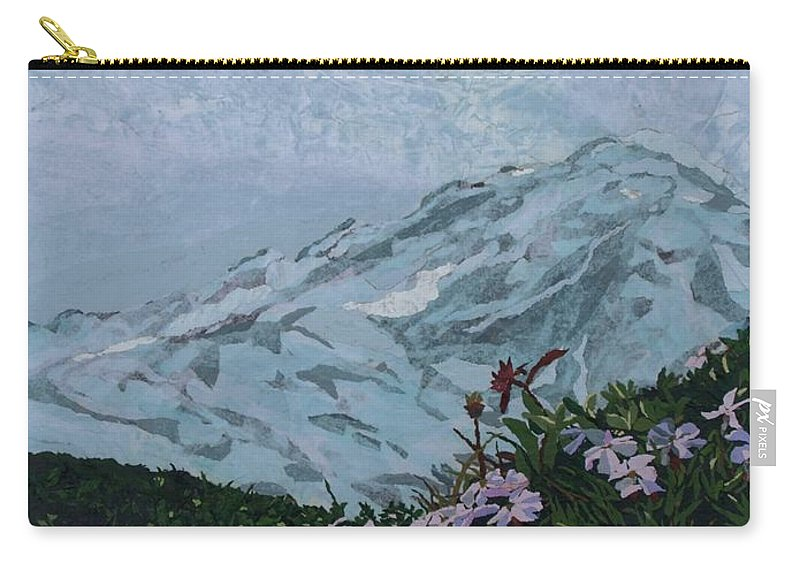 Landscape Carry-all Pouch featuring the painting Paradise Mount Rainier by Leah Tomaino
