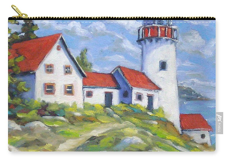Art Carry-all Pouch featuring the painting Paradise On The Point by Richard T Pranke