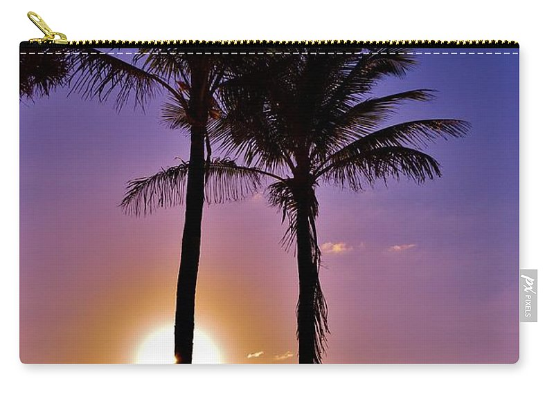 Tropical Carry-all Pouch featuring the photograph Paradise Palms by Lisa Renee Ludlum