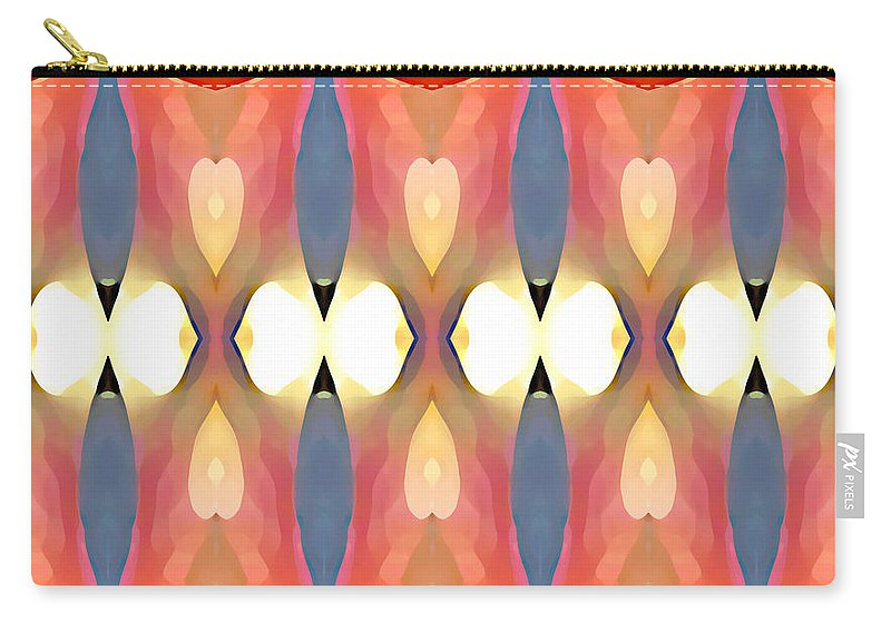 Abstract Art Carry-all Pouch featuring the painting Paradise Repeated by Amy Vangsgard