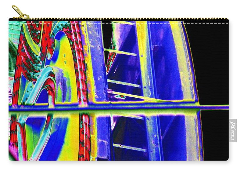 Seattle Carry-all Pouch featuring the digital art Paramount Theater Detail by Tim Allen