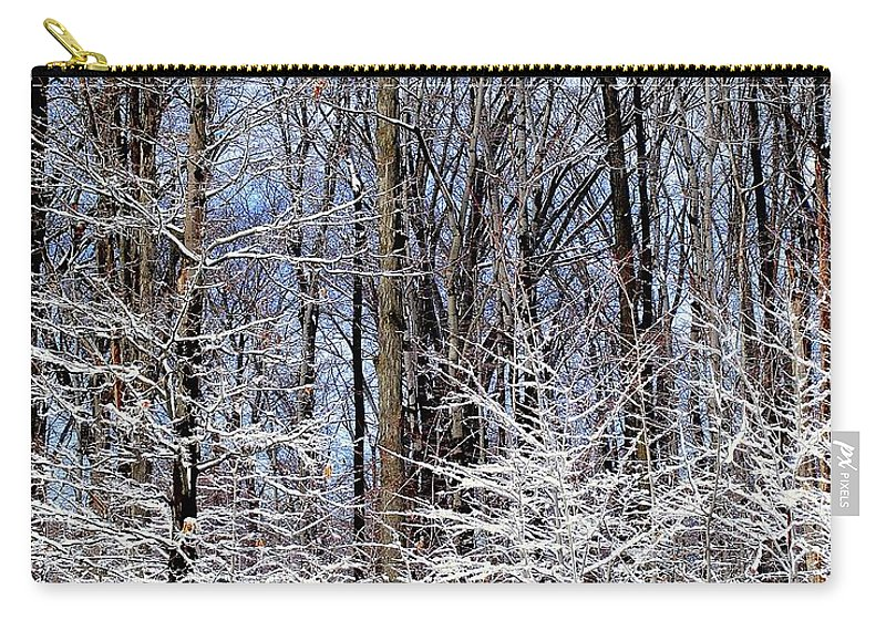 Trees Carry-all Pouch featuring the photograph Parents With Children by Frozen in Time Fine Art Photography