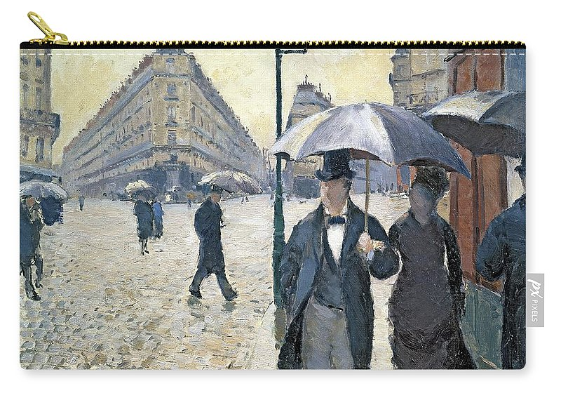 Sketch Carry-all Pouch featuring the painting Paris A Rainy Day by Gustave Caillebotte
