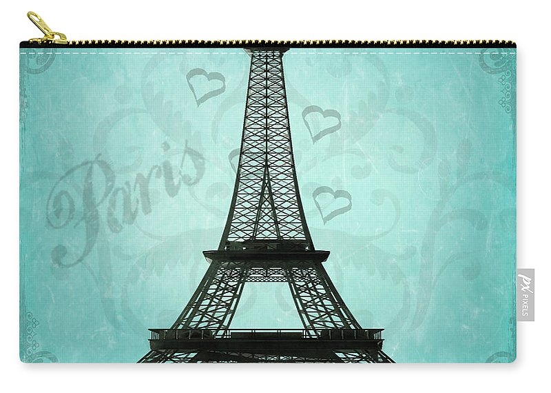 Paris Carry-all Pouch featuring the photograph Paris Collage by Jim And Emily Bush