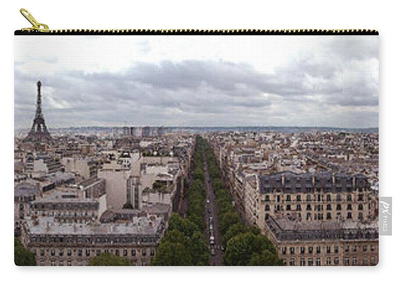 Paris Carry-all Pouch featuring the photograph Paris From The Arch De Triumph by Robert Ponzoni