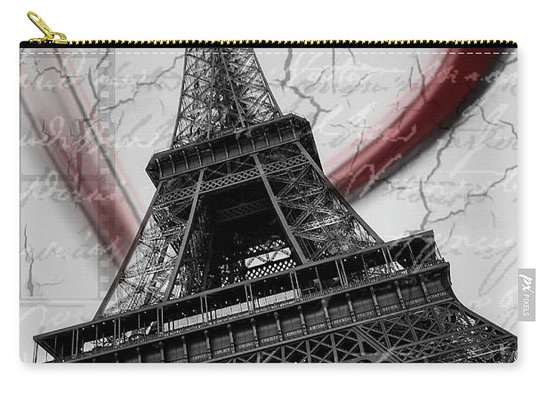 The Eiffeltower Carry-all Pouch featuring the photograph Paris In Love by Jane Svensson