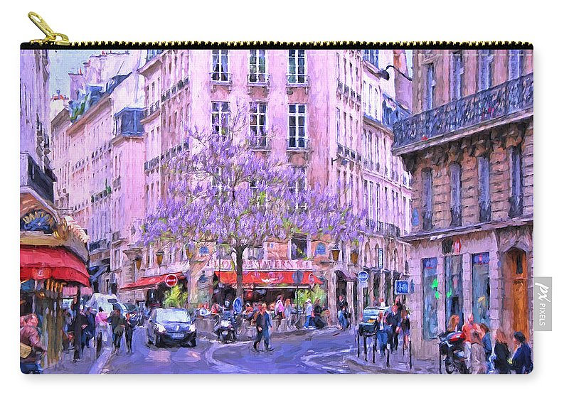 Paris Carry-all Pouch featuring the photograph Paris Intersection by Allen Beatty