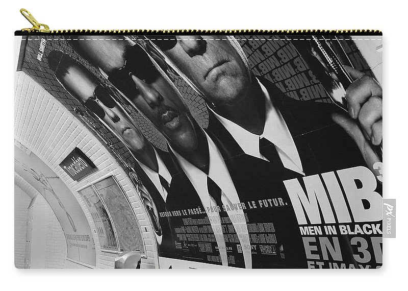 Paris Carry-all Pouch featuring the photograph Paris Metro 4 by Andrew Fare