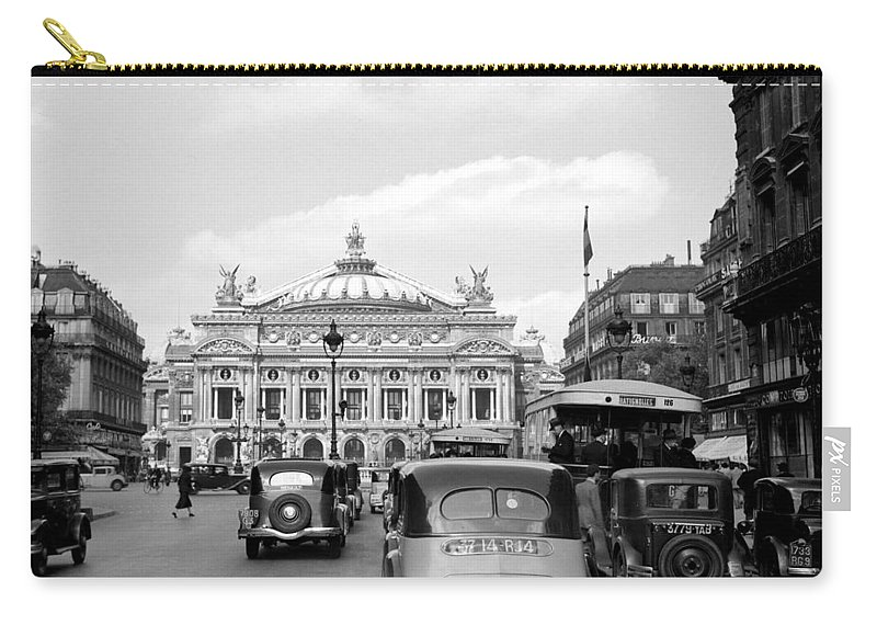 Paris Carry-all Pouch featuring the photograph Paris Opera 1935 by Andrew Fare