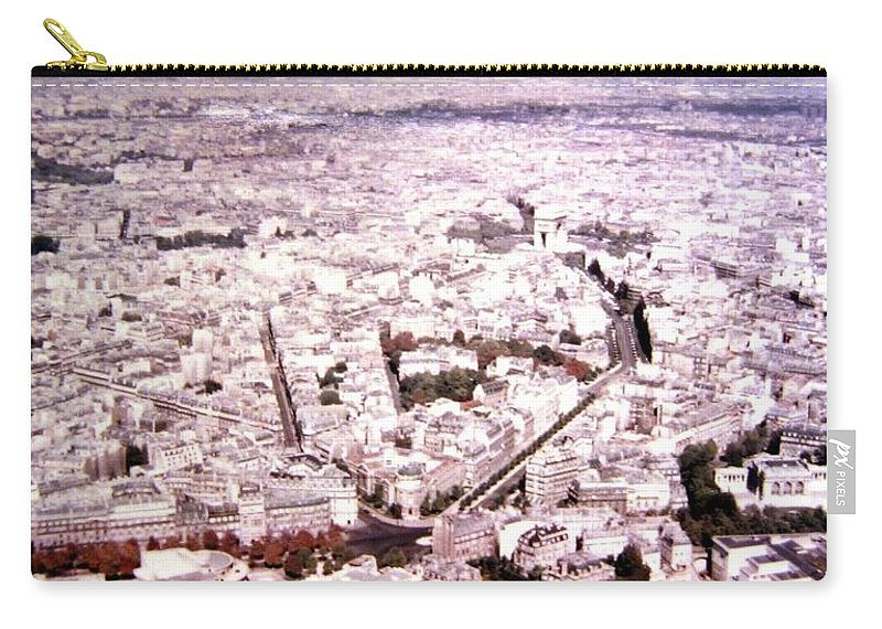 1955 Carry-all Pouch featuring the photograph Paris Panorama 1955 by Will Borden