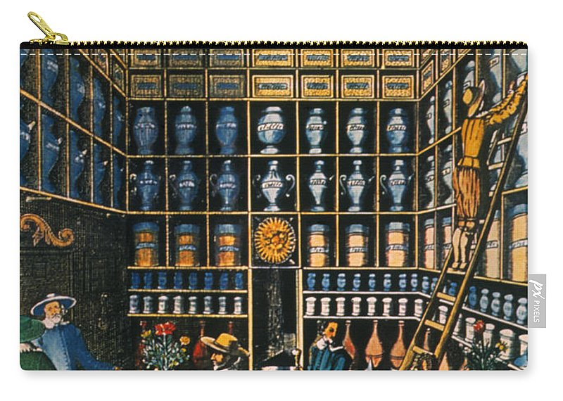 1624 Carry-all Pouch featuring the photograph Parisian Pharmacy, 1624 by Granger