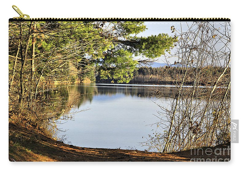 Water Carry-all Pouch featuring the photograph Park And View by Deborah Benoit