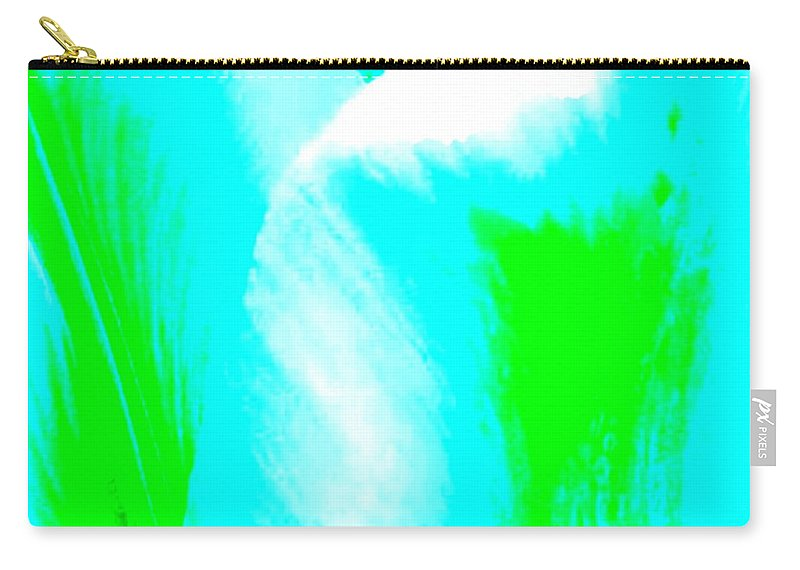 Abstract Carry-all Pouch featuring the digital art Park Avenue Tulip by Will Borden