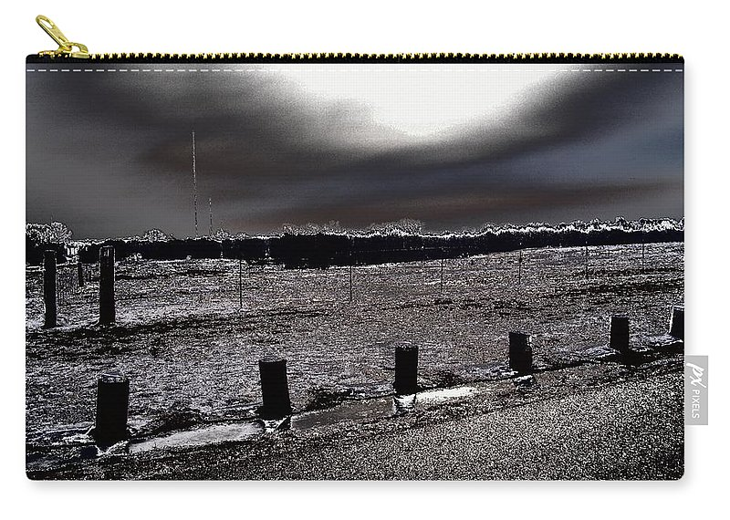 Outdoor Carry-all Pouch featuring the photograph Park In The Moonlight by Charleen Treasures