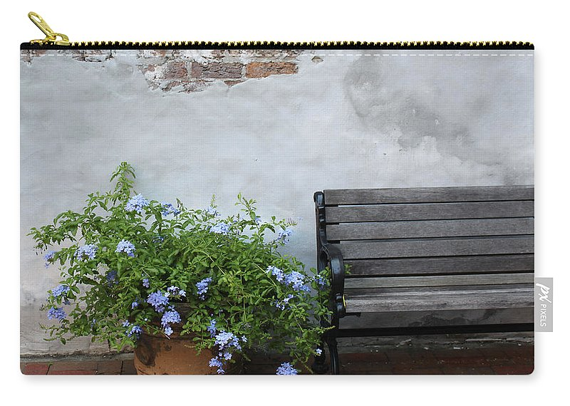 Bench Carry-all Pouch featuring the photograph Park It by Lauri Novak