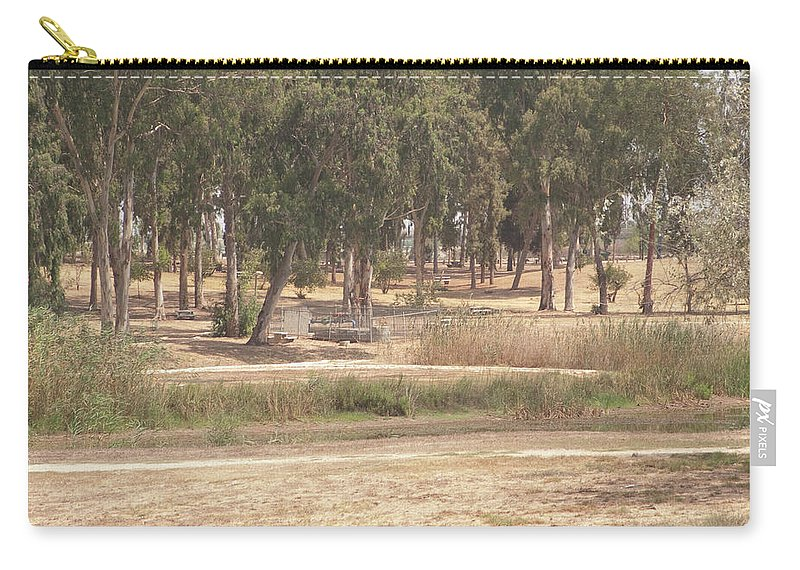 Tel Afek Carry-all Pouch featuring the photograph Park Near The Source Of The Yarkon River by Adam Gladstone