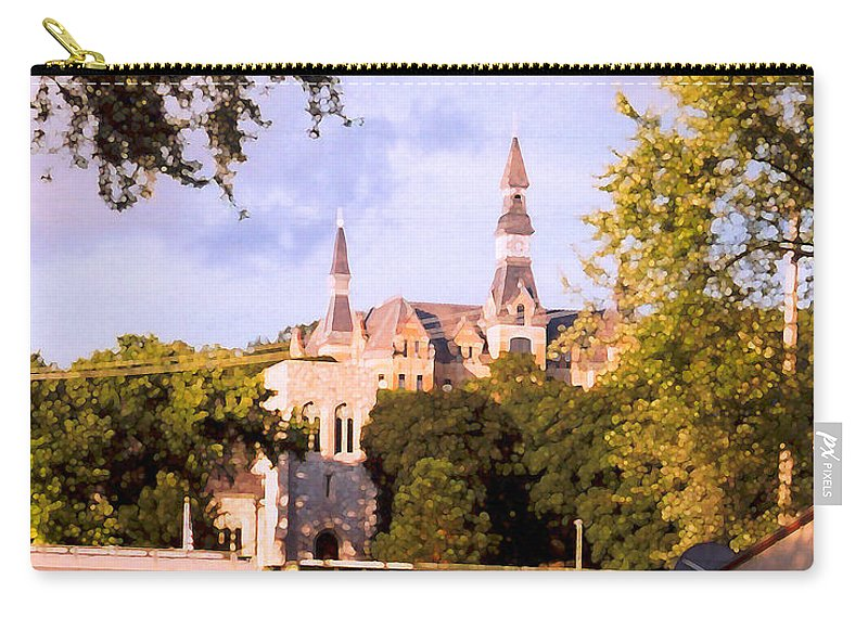 Landscape Carry-all Pouch featuring the photograph Park University by Steve Karol