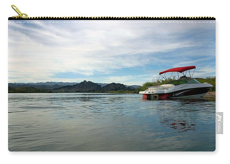 Boat Carry-all Pouch featuring the photograph Parked by Kristin Elmquist