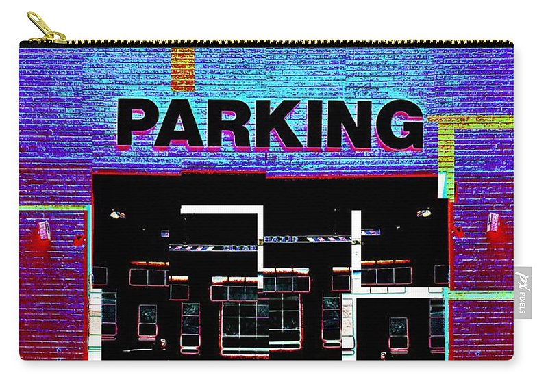 Parking Lot Carry-all Pouch featuring the digital art Parking by Tim Allen