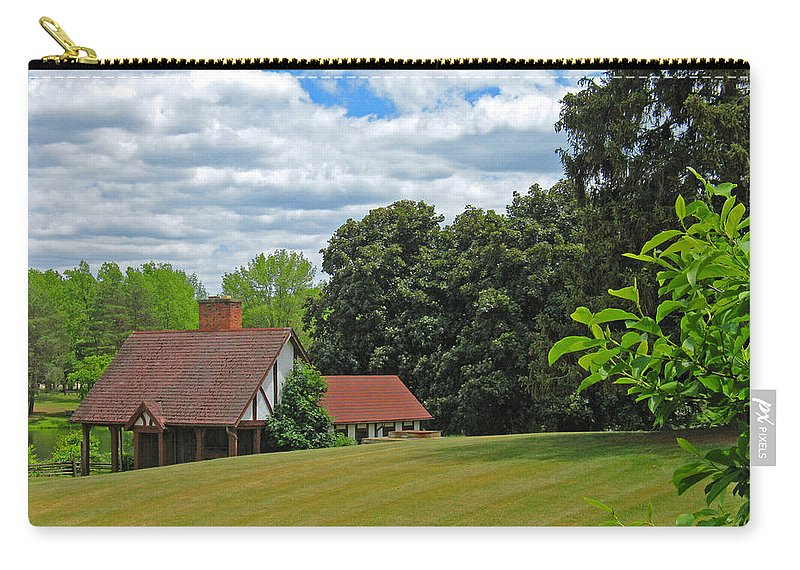 Landscape Carry-all Pouch featuring the photograph Parkland Cottage by Ann Horn