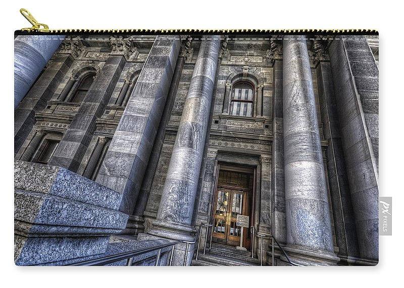 Adelaide Carry-all Pouch featuring the photograph Parliament House by Wayne Sherriff
