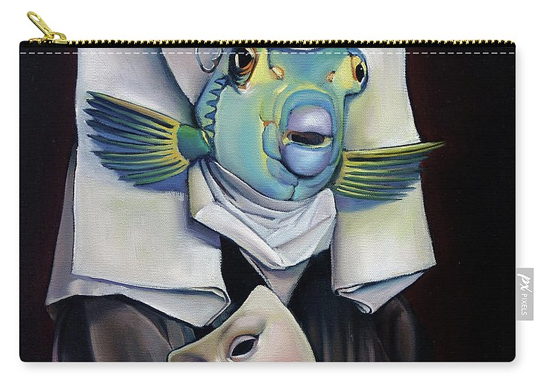 Fish Carry-all Pouch featuring the painting Parrishfish by Patrick Anthony Pierson