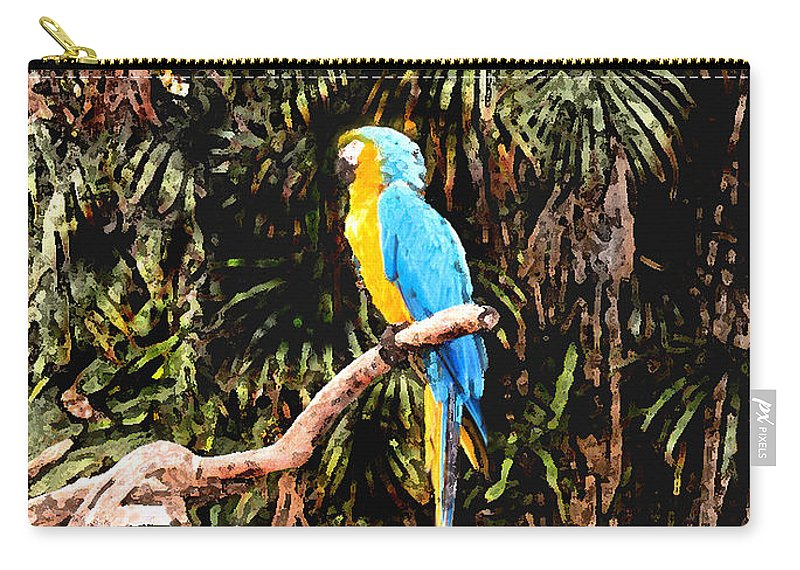 Parrot Carry-all Pouch featuring the photograph Parrot by Steve Karol