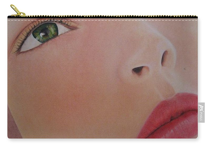 Woman Carry-all Pouch featuring the painting Part Of You 1 by Lynet McDonald