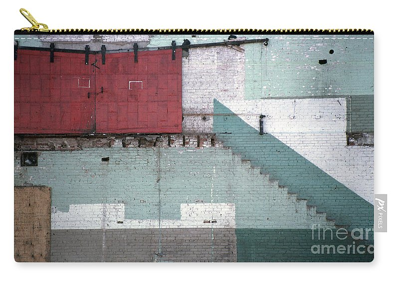 Abstract Carry-all Pouch featuring the photograph Partial Demolition by Richard Rizzo
