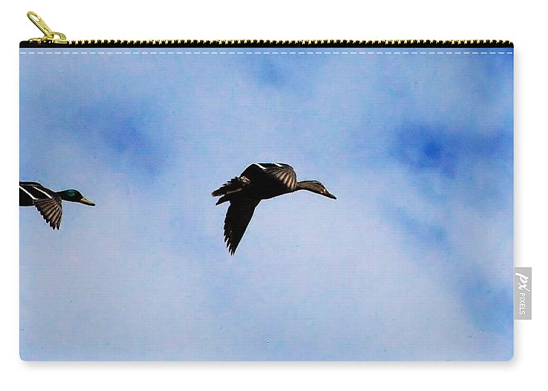 Digital Photography Carry-all Pouch featuring the photograph Partners by David Lane