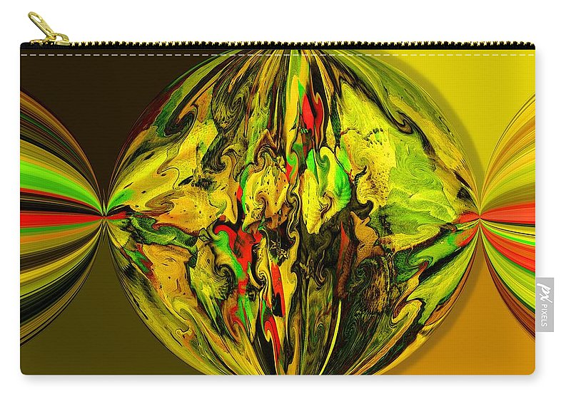 Abstract Carry-all Pouch featuring the digital art Party Favor by Ron Bissett