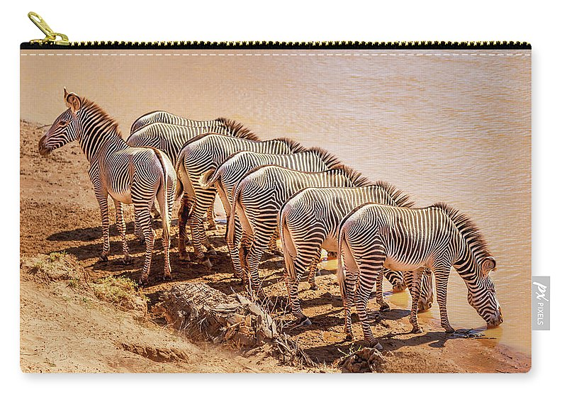 Africa Carry-all Pouch featuring the photograph Party Of Eight 6973 by Karen Celella