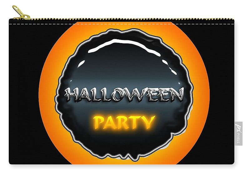 Halloween Carry-all Pouch featuring the digital art Party by Robert Orinski