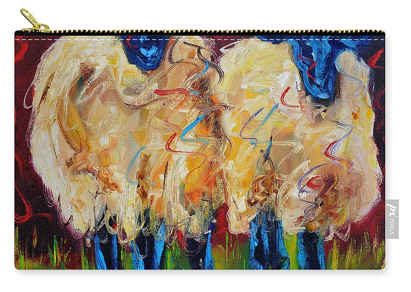 Sheep Carry-all Pouch featuring the painting Party Sheep by Diane Whitehead