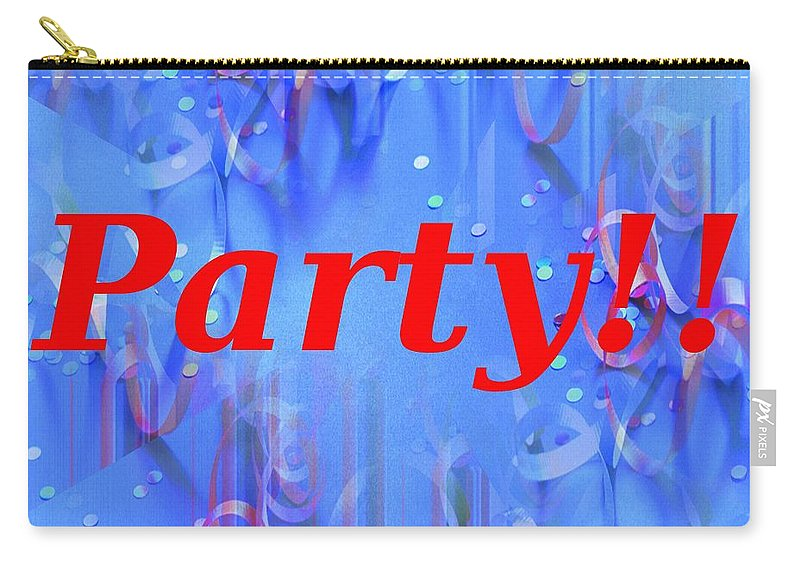 Celebrate Carry-all Pouch featuring the photograph Party by Tim Allen