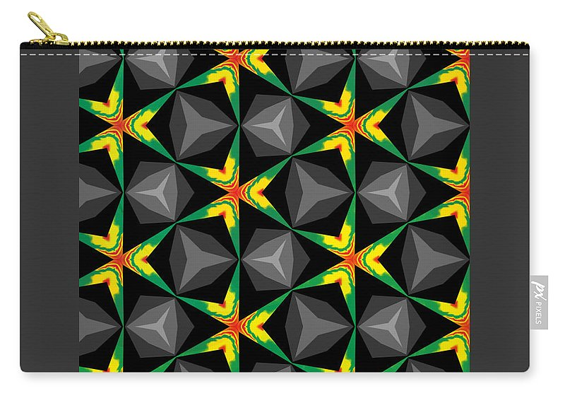 Stars Carry-all Pouch featuring the digital art Party Wall by Shirlena Rudder